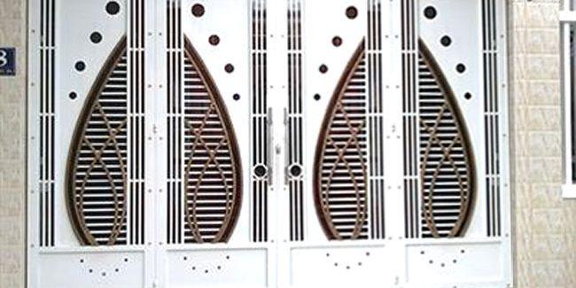Cửa cổng sắt đẹp 4 cánh cs1943