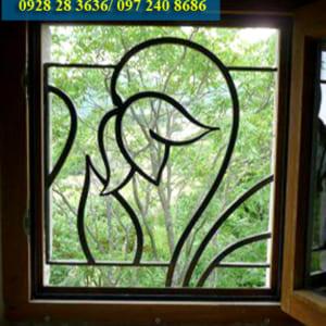 Hoa sắt cửa sổ đẹp nghệ thuật SH33