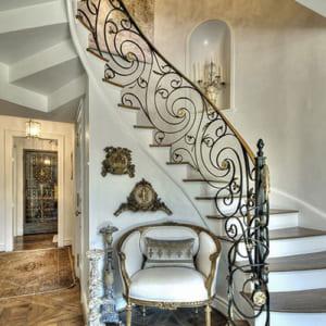 Cầu thang sắt đẹp nghệ thuật CT3043