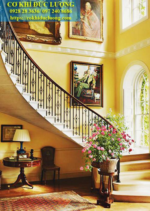Cầu thang sắt nghệ thuật CT3044