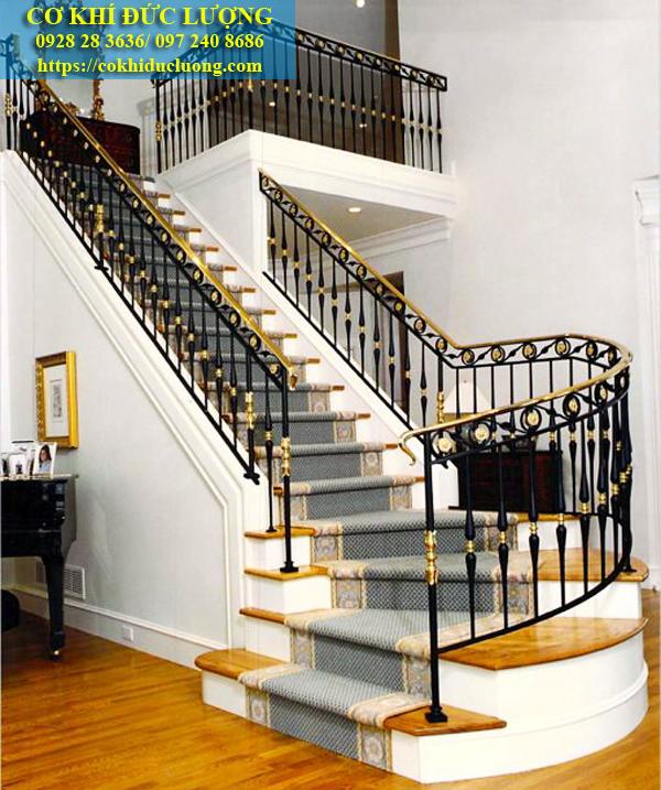 Mẫu cầu thang sắt nghệ thuật CT3046