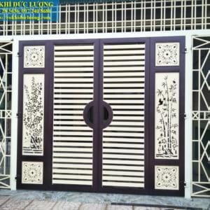 Mẫu cửa cổng sắt CNC đẹp CS2001