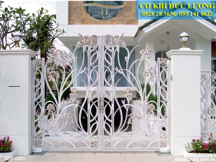 Mẫu cửa cổng 4 cánh đẹp CS1942