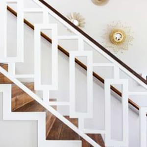 Cầu thang sắtđơn giản màu trắng CT3038
